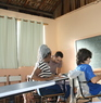 my volunteer job as an English teacher;