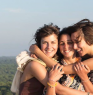 I'm in the middle with my best friends in a trip around Fra