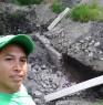 Trabajando en los campos de fut bol