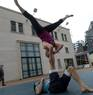 Acro Yoga with my friend