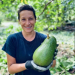 Harvesting an avocado