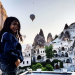 Hot air balloon sunrise over Cappadocia, Turkey