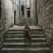 En los pasillos de old town en Dubrovnik, Croacia.