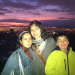 Santiago city at the back - With my daughter and son