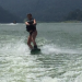 This is me skiing in Valle de Bravo, a lake in Mexico.