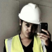 Me taking a selfie before work as a site manager
