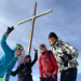 Me and friends on top of a ski ascent