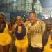 With samba dancers