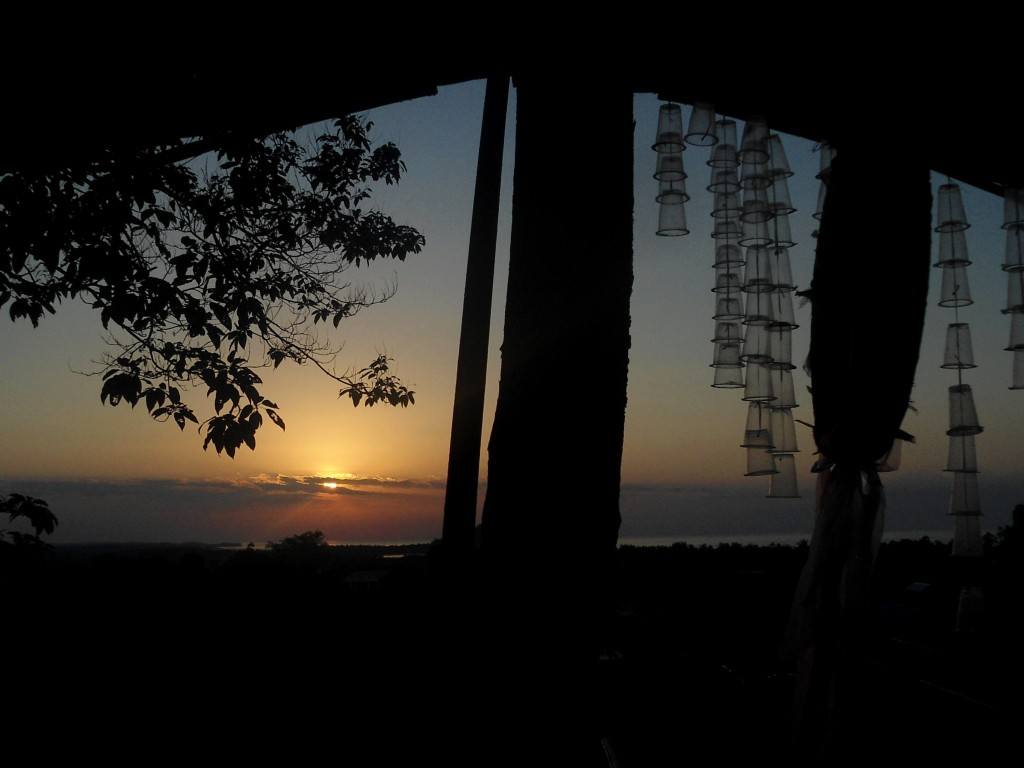 Sunrise on the place