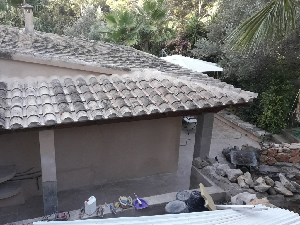 Roof ready, but still much to do around it