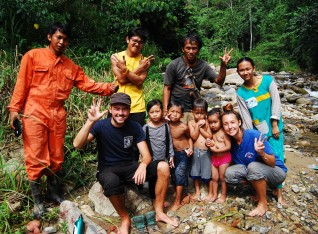Hams and Hanna (uk) with my team in nature with local cildren