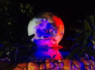 Globe in the night