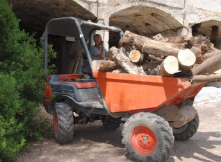 Dumper full of logs
