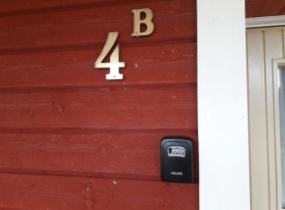 Keyboxes installed (fake security in fact, but convenience for the guests)