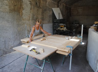 Gluing the planks together