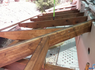 Beams in place