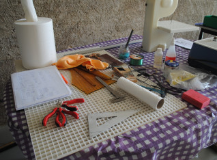 Temporary tool table