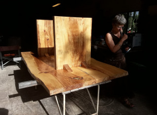 Treated with linseed oil