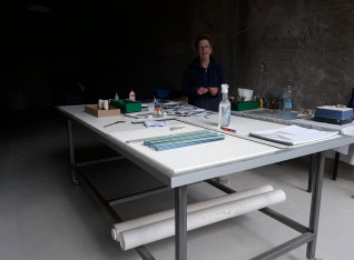 Ans her new work table 1
