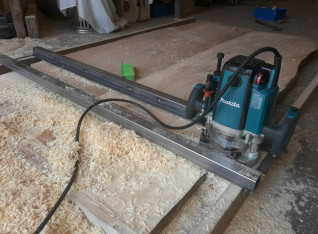 Routing the table over a sledge
