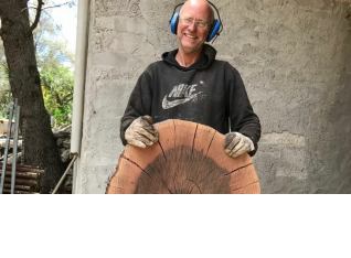 Sliced for making small coffee tables